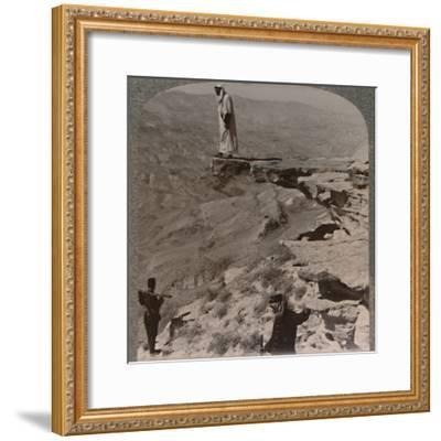 'The Arno. Dragoman standing on rock', c1900-Unknown-Framed Photographic Print
