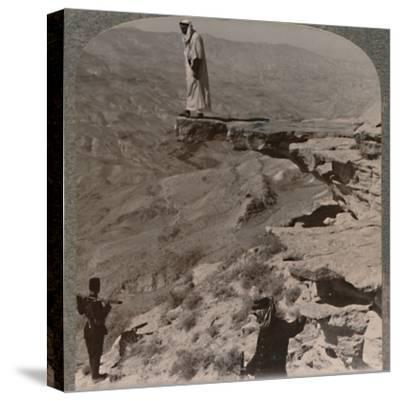'The Arno. Dragoman standing on rock', c1900-Unknown-Stretched Canvas Print