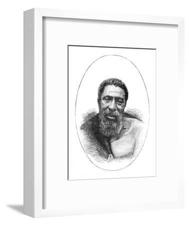 'Kreli, Chief of the Galekas', 1877, (c1880)-Unknown-Framed Giclee Print