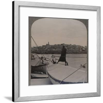 'Jaffa (the ancient Joppa) from the Sea', c1900-Unknown-Framed Photographic Print
