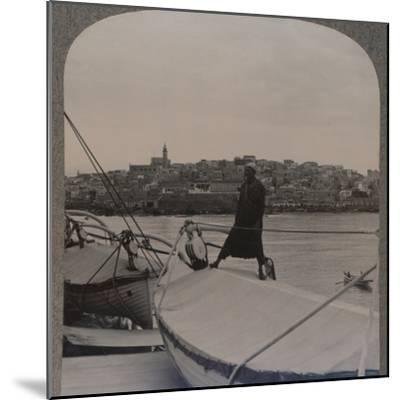 'Jaffa (the ancient Joppa) from the Sea', c1900-Unknown-Mounted Photographic Print