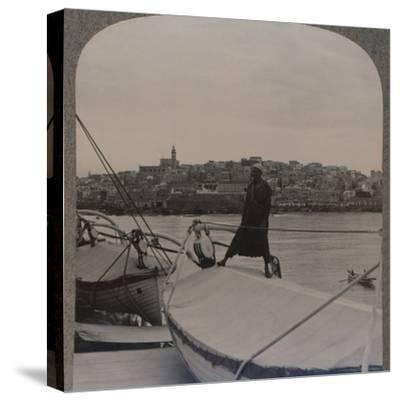 'Jaffa (the ancient Joppa) from the Sea', c1900-Unknown-Stretched Canvas Print