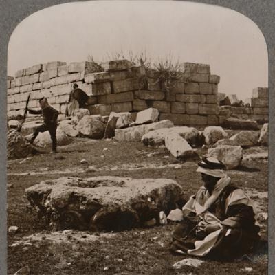 'Ruins near Machaerus', c1900-Unknown-Framed Photographic Print