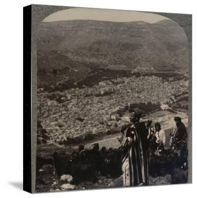 'View of Nablus', c1900-Unknown-Stretched Canvas Print
