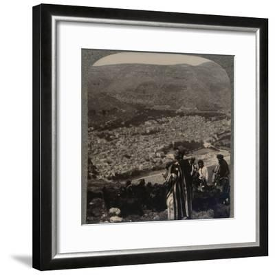 'View of Nablus', c1900-Unknown-Framed Photographic Print