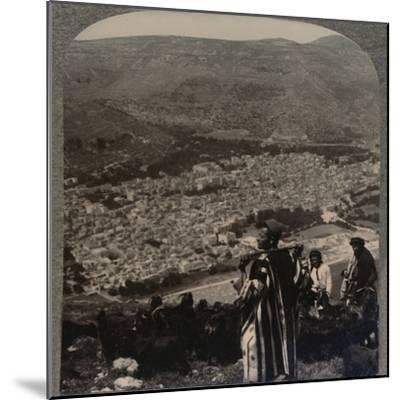 'View of Nablus', c1900-Unknown-Mounted Photographic Print