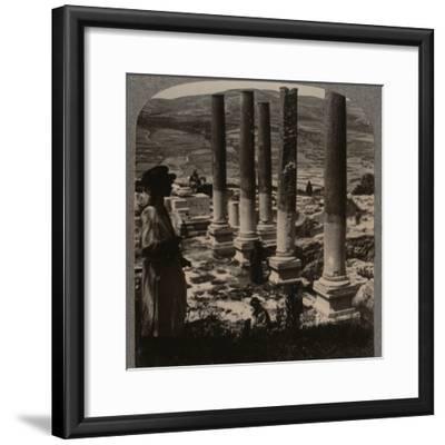 'Harod's Street of Columns, Samaris', c1900-Unknown-Framed Photographic Print