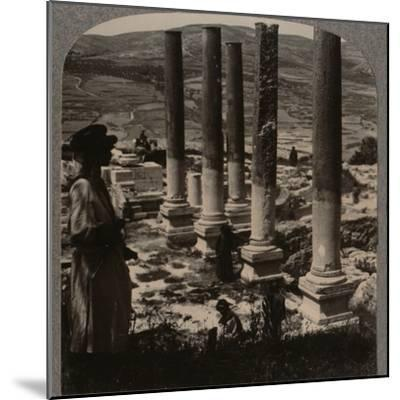 'Harod's Street of Columns, Samaris', c1900-Unknown-Mounted Photographic Print