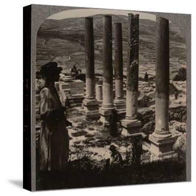 'Harod's Street of Columns, Samaris', c1900-Unknown-Stretched Canvas Print