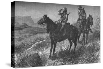'Frontier Light Horse, on Vedette Duty, Discovering Zulus near Wood's Camp, on Kambula Hill', c1880-Unknown-Stretched Canvas Print