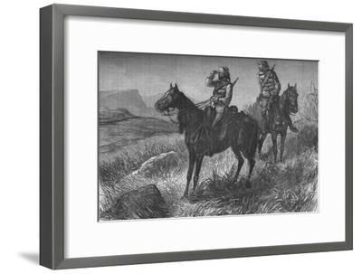 'Frontier Light Horse, on Vedette Duty, Discovering Zulus near Wood's Camp, on Kambula Hill', c1880-Unknown-Framed Giclee Print