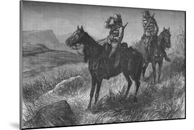 'Frontier Light Horse, on Vedette Duty, Discovering Zulus near Wood's Camp, on Kambula Hill', c1880-Unknown-Mounted Giclee Print