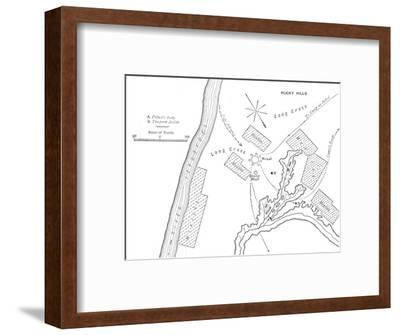 'Plan of the Ground Where Prince Louis Napoleon was killed, (June 1, 1879)', c1880-Unknown-Framed Giclee Print