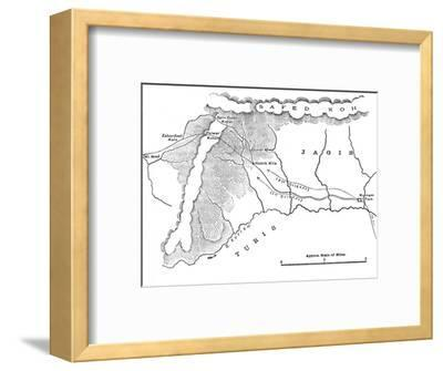 'Map Showing March of General Roberts to Peiwar Kotal (Nov. 28 to Dec. 1, 1878)', c1880-Unknown-Framed Giclee Print