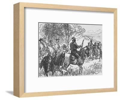 'Volunteers Meeting A Loyal Kaffir and his Family', c1880-Unknown-Framed Giclee Print