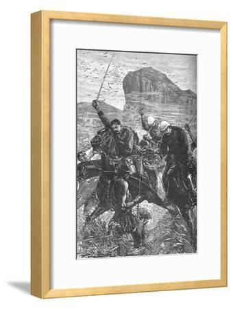 'Isandhlwana: The Dash with the Colours', 1879, (c1880)-Unknown-Framed Giclee Print