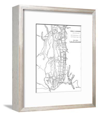 'Plan of General Roberts's March from Cabul to Candahar', c1880-Unknown-Framed Giclee Print
