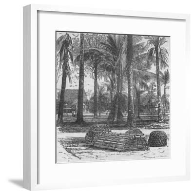 'The Barracks at the Residency, with graves of Mr. Birch and Captain Innes', 1876, (c1880)-Unknown-Framed Giclee Print