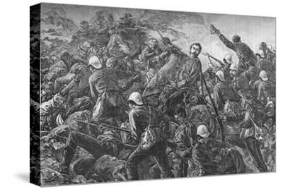 'Colonel Galbraith at the Battle of Maiwand', c1880-Unknown-Stretched Canvas Print