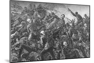 'Colonel Galbraith at the Battle of Maiwand', c1880-Unknown-Mounted Giclee Print