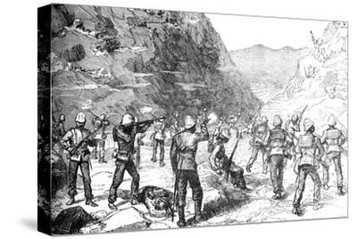 'Foraging Party of the 67th Attacked by the Afghans, (Nov 9, 1879)', c1880-Unknown-Stretched Canvas Print