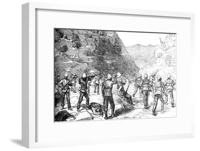 'Foraging Party of the 67th Attacked by the Afghans, (Nov 9, 1879)', c1880-Unknown-Framed Giclee Print