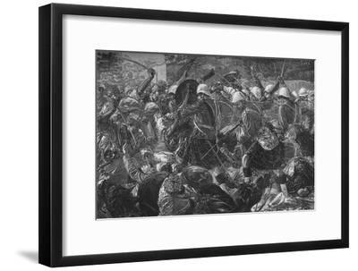 'Battle of Baba Wali: The Highlanders Clearing a Village', c1880-Unknown-Framed Giclee Print