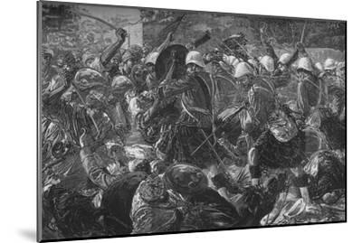 'Battle of Baba Wali: The Highlanders Clearing a Village', c1880-Unknown-Mounted Giclee Print