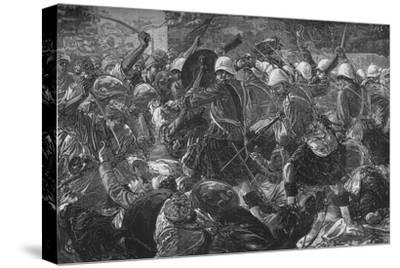 'Battle of Baba Wali: The Highlanders Clearing a Village', c1880-Unknown-Stretched Canvas Print