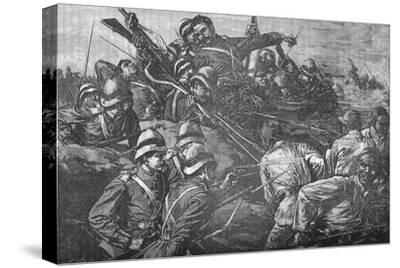 'The Highland Brigade Storming The Trenches at Tel-El-Kebir', c1882-Unknown-Stretched Canvas Print