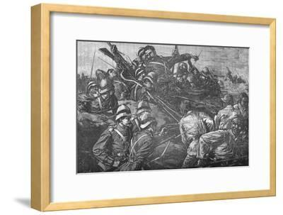 'The Highland Brigade Storming The Trenches at Tel-El-Kebir', c1882-Unknown-Framed Giclee Print