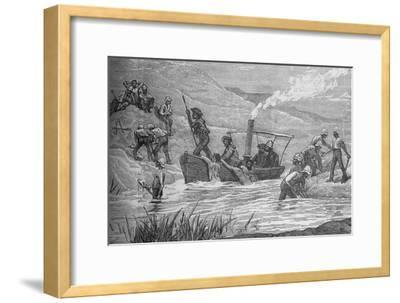 'British Soldiers Cutting a Dam Constructed by Arabi at Mahuta', c1882-Unknown-Framed Giclee Print