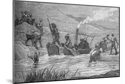 'British Soldiers Cutting a Dam Constructed by Arabi at Mahuta', c1882-Unknown-Mounted Giclee Print