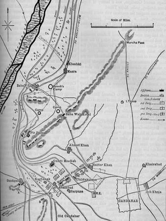 'Plans of the Battle of Candahar, (September 1, 1880)', c1880-Unknown-Framed Giclee Print