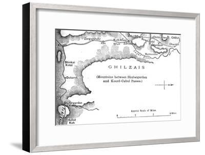'Plan of the Road from the Shutargardan Pass to Cabul', c1880-Unknown-Framed Giclee Print