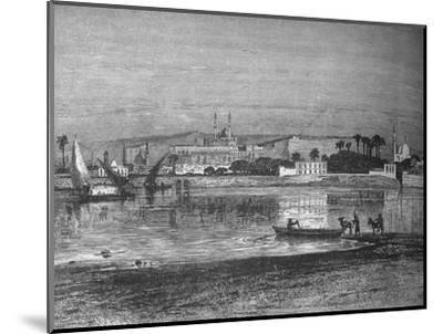'Citadel in Cairo, from the Nile', c1882-Unknown-Mounted Giclee Print