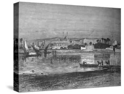 'Citadel in Cairo, from the Nile', c1882-Unknown-Stretched Canvas Print