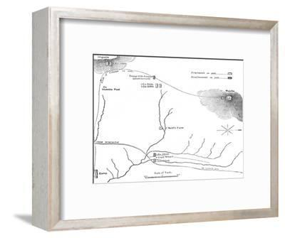 'Plan of the March to Majuba Hill, (February 26, 1881)', c1880s-Unknown-Framed Giclee Print