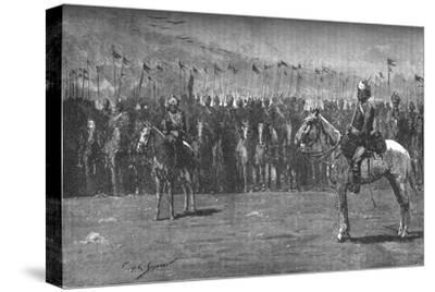 'The Indian Contingent - The Thirteenth Bengal Lancers', c1882-Unknown-Stretched Canvas Print