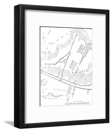 'Plan of the Battle of Tel-El-Kebir, (September 13, 1882)', c1882-Unknown-Framed Giclee Print