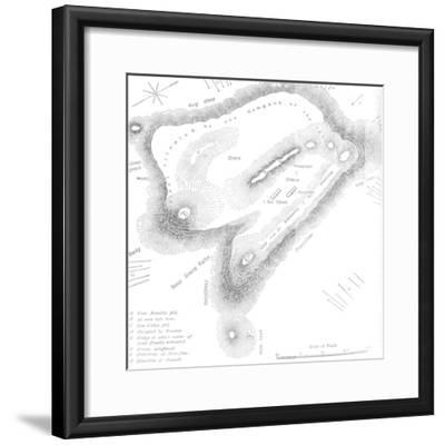 'Plan of the Summit of Majuba Hill, (February 27, 1881)', c1880s-Unknown-Framed Giclee Print