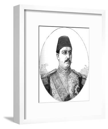 'Tewfik, Khedive of Egypt', c1882-Unknown-Framed Giclee Print