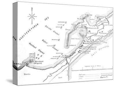 'Plan of the Bombardment of Alexandria, (July 11, 1882)', c1882-Unknown-Stretched Canvas Print