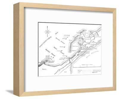 'Plan of the Bombardment of Alexandria, (July 11, 1882)', c1882-Unknown-Framed Giclee Print