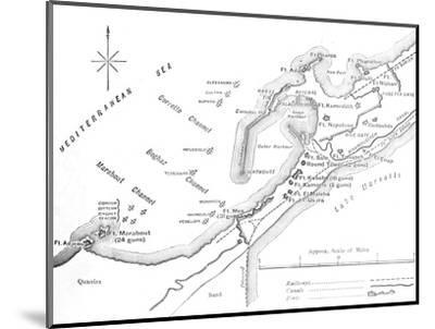 'Plan of the Bombardment of Alexandria, (July 11, 1882)', c1882-Unknown-Mounted Giclee Print