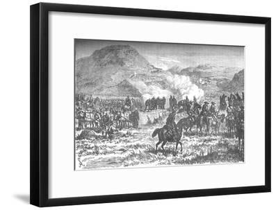 'Covering the retreat of the fifty-eighth regiment after the Battle of Laing's Nek', c1880-Unknown-Framed Giclee Print