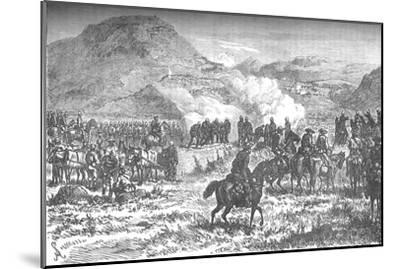 'Covering the retreat of the fifty-eighth regiment after the Battle of Laing's Nek', c1880-Unknown-Mounted Giclee Print