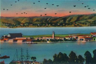 'North Island. U.S. Naval Air Station. San Diego, California', c1941-Unknown-Framed Giclee Print