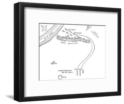 'Plan of the Battle of Kirbekian, (February 10, 1885)', c1885-Unknown-Framed Giclee Print