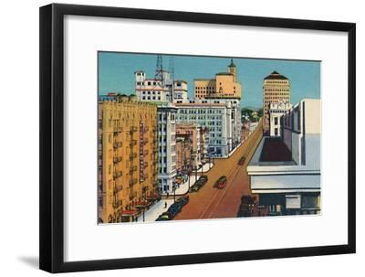 'Broadway. San Diego, California', c1941-Unknown-Framed Giclee Print